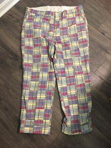 VTG Berle Madras Plaid Patchwork Pants 42x29