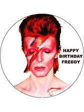 7.5 David Bowie glassa commestibile COMPLEANNO CAKE TOPPER