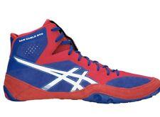 Asics Men's Dan Gable Evo Red/White/Blue Wrestling Shoes, Size 8