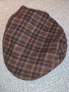 Brixton Hooligan Newsboy Cap Size Medium 7 1/4 Mens Brown Hat, Wool Blend