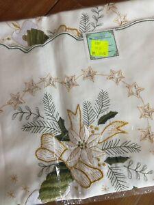 Weihnachtstischdecke, Mitteldecke, 85x85cm,neu mit Etikett