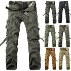 Army Men's casual Cargo Camo Combat Work Pants Military Long Trousers Size 28-40