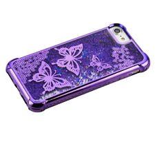 Apple iPhone 7 /8 Plus Liquid Glitter Quicksand Bling Rubber Silicone Case Cover