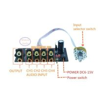 Audio Input Signal Selector Relay Board Signal Switching source signal selection