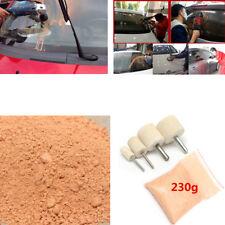 Glass Polishing Kit  230 g Cerium Oxide Polishing Powder 4 Felt Wheels