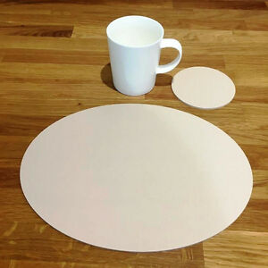 Oval Placemat and Round Coaster Set - Latte