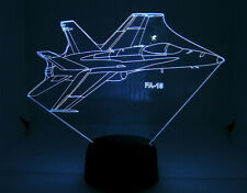 FA 18 RC EDF Airplane 3D Acrylic Light with Extras