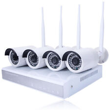 Wifi Wireless 4CH 960P CTV NVR Home Security Camera System Night Vision Outdoor