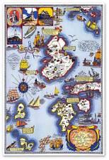 "Isles of Shoals MAP circa 1927 - 24"" x 36"" New England Maine New Hampshire USA"