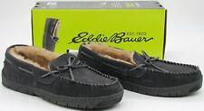 Eddie Bauer Men's Woodland Suede Slippers Indoor/Outdoor Shoes Gray Medium (8-9)
