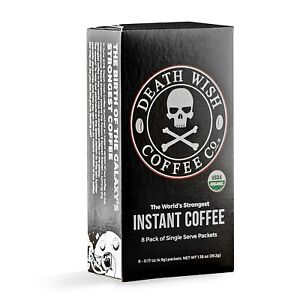 Death Wish Instant Coffee - World's Strongest Coffee Organic : 8 packets