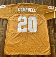 Custom Nike BCS Championship Texas Longhorns Earl Campbell 20 Jersey Mens 50 L