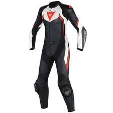 Combinaisons de motocyclette rouges en cuir pour femme