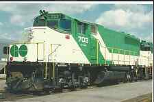 A Beautifully Painted Government of Ontario GP40-2W  train  postcard