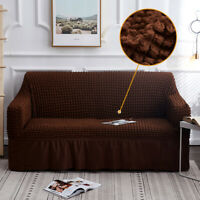 Jacquard Sofa Cover with Skirt Universal stretch Couch Cover Furniture Slipcover