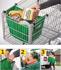 Bolsa bolso carro de compra supermercado *SUPERPRACTICO* reutilizable PLEGABLE
