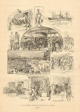 Cattle, Our Beef From Ranch To Table, Stockyard, Slaughterhouse 1890 Antiq Print