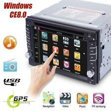 "6.2"" Car GPS Nav 2 DIN HD Stereo MP3 DVD Player Bluetooth Radio iPod USB +Camera"
