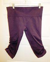Lululemon sz 10 Purple Tight High Rise Gathered Cropped Pant