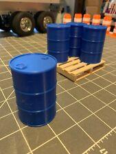 1/14 scale Blue 55 gallon barrel Oil Drum  Tamiya Semi