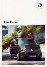 Volkswagen Vw Multivan 11 / 2009 catalogue brochure Hongrois Hungarian