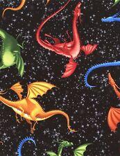 Dragons 100% Cotton Fabric Half Metre - GM2709