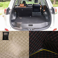 PU Leather Rear Trunk Cargo Liner Protector Mat Seat Back Cover For Toyota RAV4