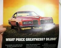 Pontiac Grand Prix 1977 magazine clippings advertisement ad