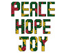 Christmas Words card motifs peace hope joy picture modern counted cross stitch