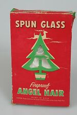 Antique Christmas Angel Hair SPUN GLASS Box NATIONAL TINSEL CO Art Deco Graphics