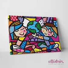 Romero Britto, Children of the World, Stampa Fine Art su tela Canvas Arredo Kids