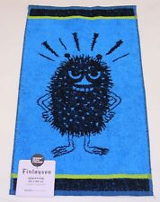 Moomin Stinky Black Blue Hand Towel Finlayson Finland Brand New