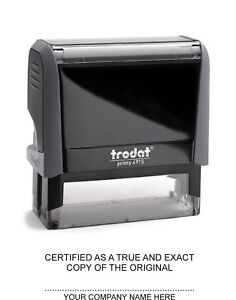 Trodat 4915 customised stamp with your company name Lawyers Car Dealers etc;