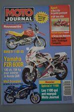 MOTO journal N° 1100 du 16/9/1993-BMW R 1100 GS-Yamaha 600R-MuZ Scorpion-GP USA