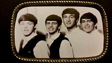 1960s Photo ***THE BEATLES*** BLACK & WHITE PHOTO MUSIC BELT BUCKLE