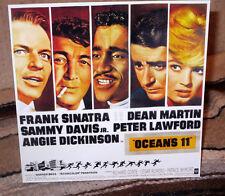 "Ocean's 11 Dean Martin & Frank Sinatra Movie Poster Tabletop Standee 8 1/2"" Tall"