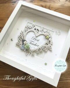 🎀Heart Plaque Box Frame, Wedding Engagement Birthday Thank you Keepsake Gift