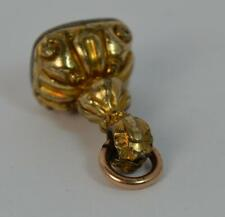 Pocket Watch Fob Pendant t0423 Georgian Gold Cased & Bloodstone