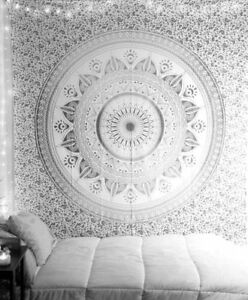 Mandala Tapestry Indian Cotton Wall Hanging Hippie Poster Bohemian Ombre Throw