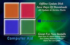Windows Server 2016 32 & 64 Bit Patch Disk - Incs. All Updates SPs DVD 08-14-18