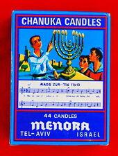 Vintage Style . . 44 CHANUKAH CANDLES - - Hannukah Menorah Jewish color Judaica