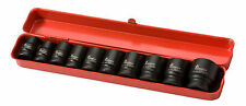 "NEW Impact Socket Sets Metric 10 Piece 1/2"" Square Drive 6 Point Air Tools"