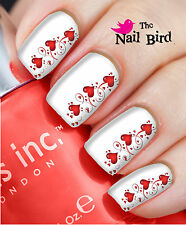 Nail Wraps Nail Art Nail Decals Nail Transfers 20 Lovely Hearts side strip