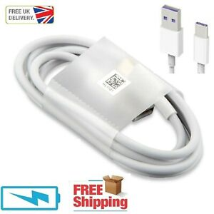 For Huawei P30 Pro P20 P10 Mate 20 10 Fast Type C USB Charger Cable Lead