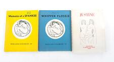 Whip & Rod Vintage Fetish Books BDSM Dominatrix Justine Spankee Whipper Flossie