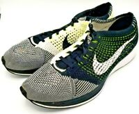 Nike Flyknit Racer Black White Orca Volt Mens Running Shoes Size 12.5 526628 011