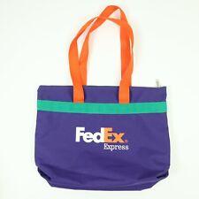 Vintage FedEx Ground & Express Canvas Tote Bag Purple Colorful