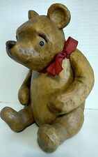 "DISNEY Classic Winnie the Pooh by Charpente Carved Resin 11"" Tall Movable Arms"
