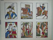 2 vintage Pellerin prints, military & domestic scenes; rare single proofsINV2279