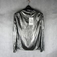 Stunning! Cheap Monday Silver Top/Blouse Size M Style Women Fashion Clothing